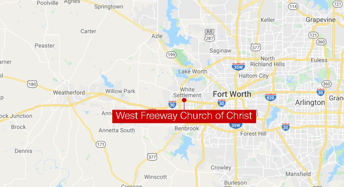 Texas church shooting leaves two people dead and one injured