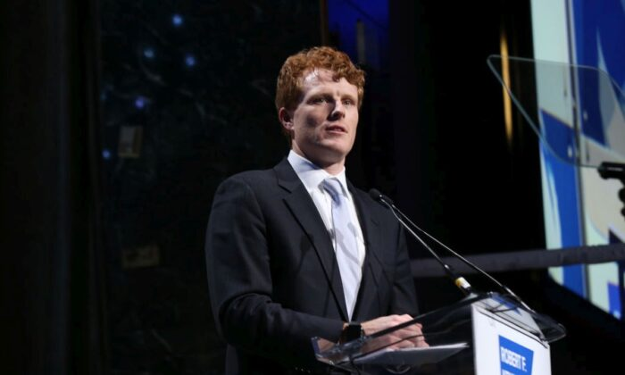 Rep. Joe Kennedy III speaks onstage during the Robert F. Kennedy Human Rights Hosts 2019 Ripple Of Hope Gala & Auction In NYC  in New York City on Dec. 12, 2019. (Bennett Raglin/Getty Images for for Robert F. Kennedy Human Rights)
