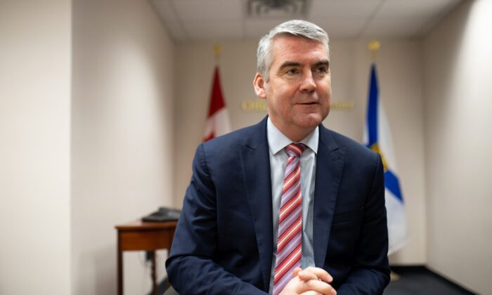 Premier Stephen McNeil during a year-end media interview in a meeting room at the Office of the Premier in Halifax, Nova Scotia, on Dec. 18, 2019. (The Canadian Press/Riley Smith)