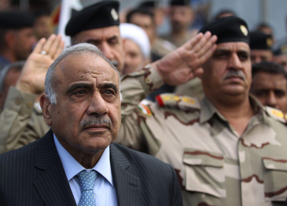 Iraq's Prime Minister Adel Abdel Mahdi
