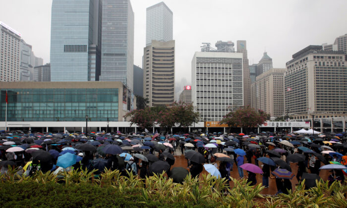 People attend a pro-democracy rally at Edinburgh Place in Hong Kong, China on Dec. 29, 2019. (Navesh Chitrakar/Reuters)