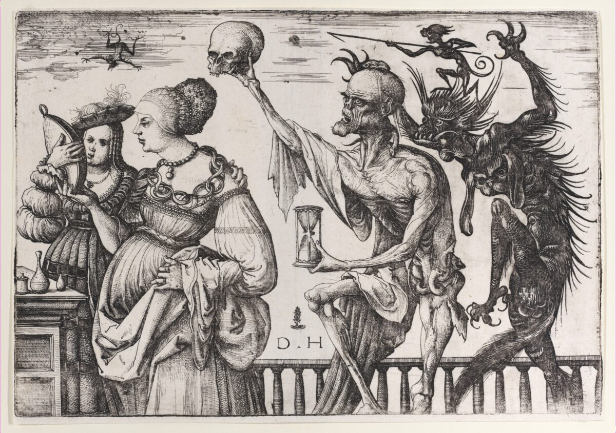 """""""Death and the Devil Surprising Two Women"""