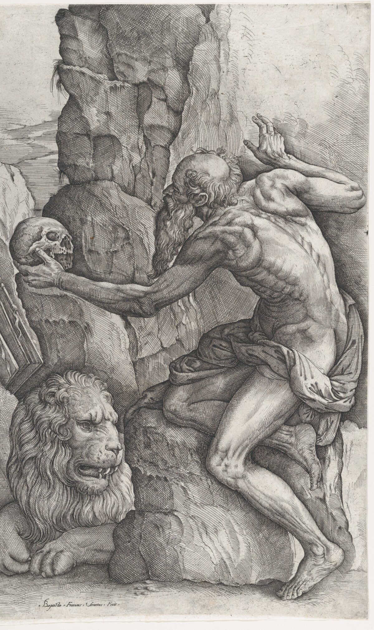 """A detail from """"Saint Jerome"""