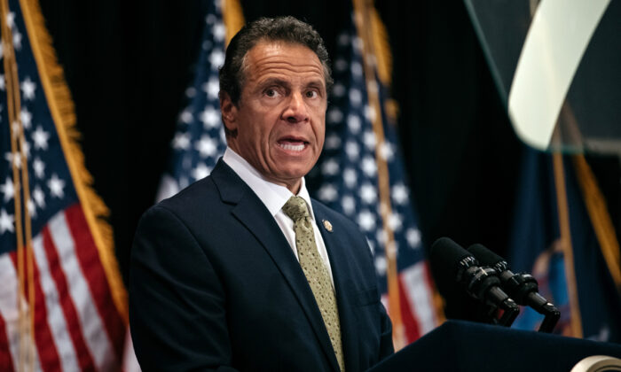New York Governor Andrew Cuomo delivers a speech at Fordham Law School in the borough of Manhattan, New York City, on July 18, 2019.  (Scott Heins/Getty Images)