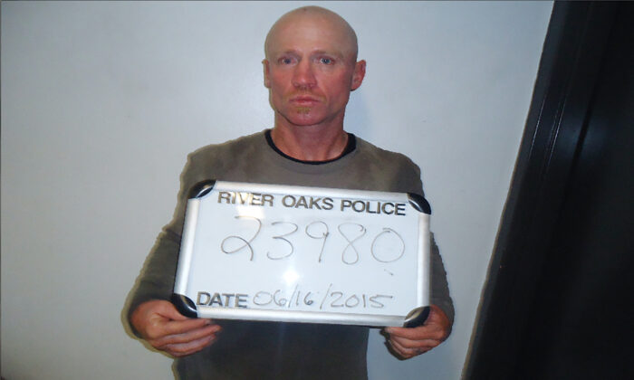 Keith Thomas Kinnunen, authorities say is the man who carried out an attack on Dec. 29, 2019, at West Freeway Church of Christ in White Settlement, Texas. This photo was taken on June 16, 2015. (River Oaks Police Department via AP)