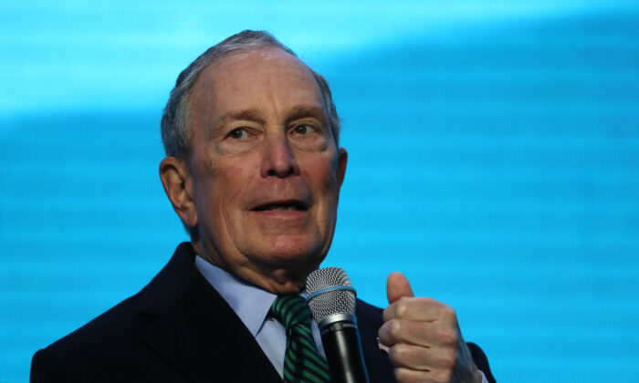 Democratic presidential candidate former New York City Mayor Michael Bloomberg speaks in San Francisco, Calif., on Dec. 11, 2019. (Justin Sullivan/Getty Images)