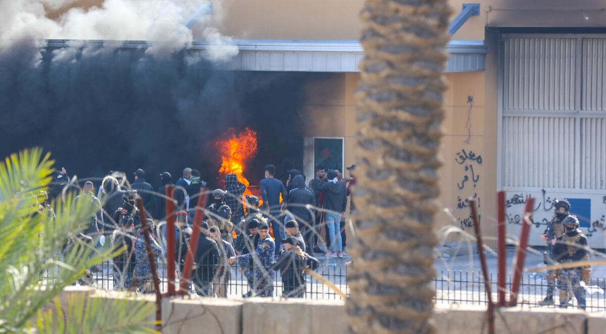 Attackers and assailants set fire