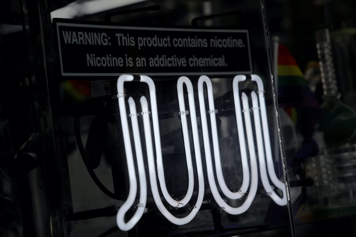 Signage for Juul in New York City