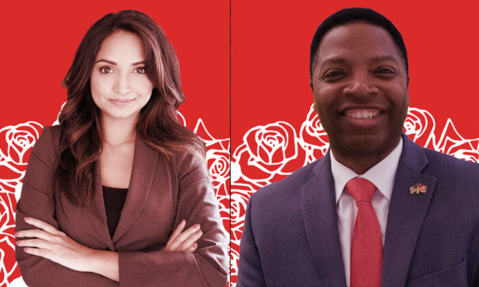 Nabilah Islam (L) and Michael Owens are seen in an endorsement material by Metro Atlanta Democratic Socialists of America (MADSA) (Screenshot)