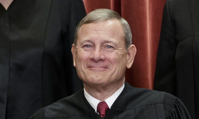 Chief Justice John Roberts at the Supreme Court building in Washington on Nov. 30, 2018. (J. Scott Applewhite/AP Photo)