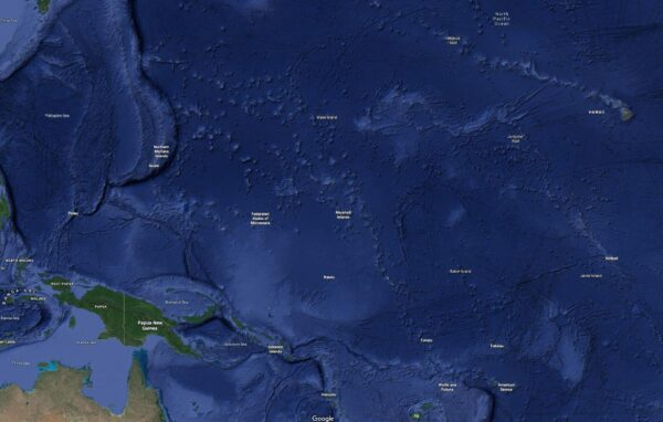 The Marshall Islands and surrounding area
