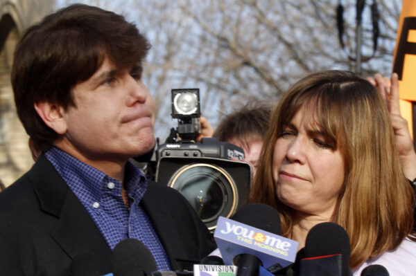 Patti Blagojevich (R), wife of disgraced former Illinois Governor Rod Blagojevich