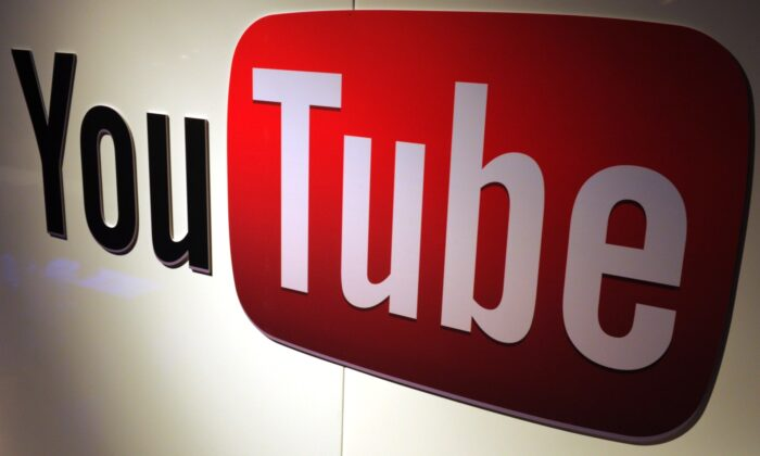 The YouTube logo in a file photo. (Eric Piermont/AFP via Getty Images)