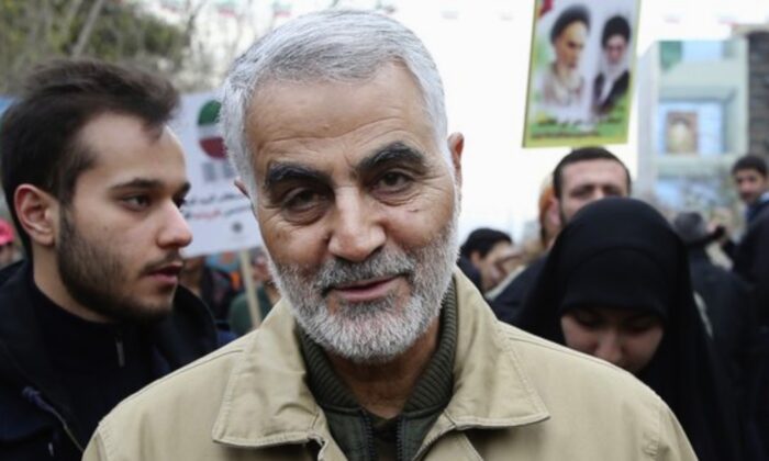 Qassem Soleimani, commander of Iran's Quds Force, attends an annual rally commemorating the anniversary of the 1979 Islamic revolution, in Tehran, Iran on Feb. 11, 2016. (Ebrahim Noroozi/AP Photo)