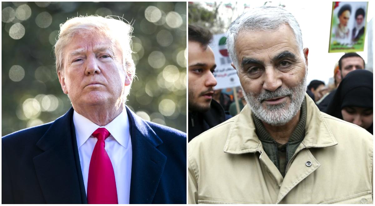 President Donald Trump and Gen. Qassem Soleimani