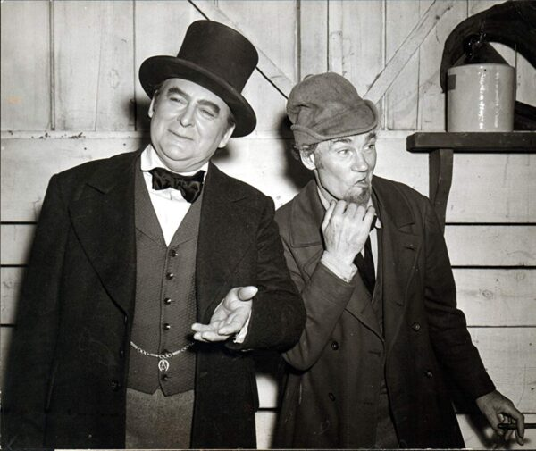 Edward Arnold and Walter Huston in The Devil and Daniel Webster