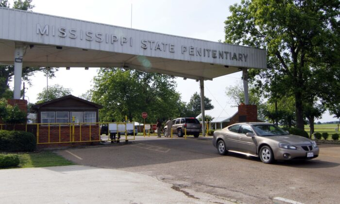 Traffic moves past the front of the Mississippi State Penitentiary in Parchman, Miss., on May 19, 2010. (Rogelio V. Solis/AP Photo)