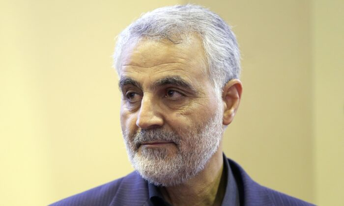 The commander of the Iranian Revolutionary Guard's Quds Force, Gen. Qassem Soleimani is seen in Tehran on Sept. 14, 2013. (Mehdi Ghasemi/ISNA/AFP via Getty Images)
