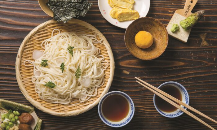 A shoyu tare-based dipping sauce for noodles. (Rick Poon)