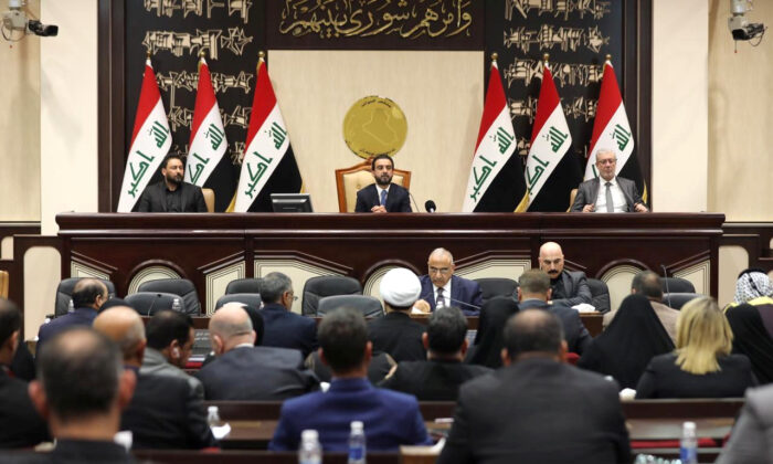 Members of the Iraqi parliament are seen at the parliament in Baghdad, Iraq, on Jan. 5, 2020. (Iraqi parliament media office/Handout via Reuters)