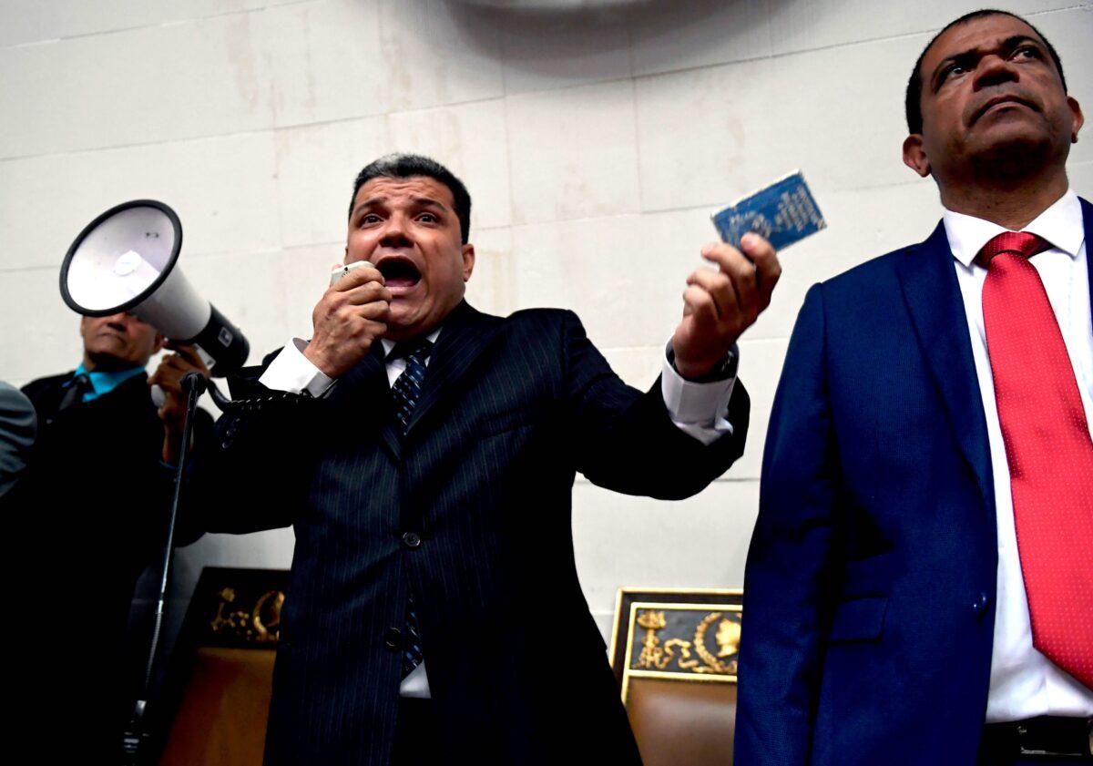 Venezuela's opposition lawmaker Luis Parra