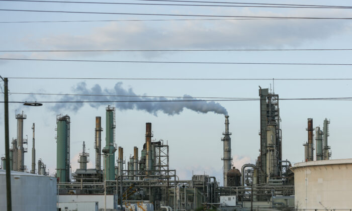 Refineries in Corpus Christi on Nov. 8, 2018. (Charlotte Cuthbertson/The Epoch Times)