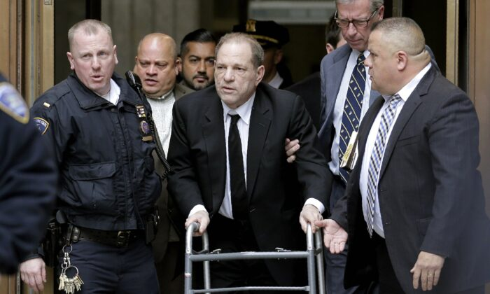 Harvey Weinstein leaves State Supreme Court in New York City, on Jan. 6, 2020. (Seth Wenig/AP Photo)