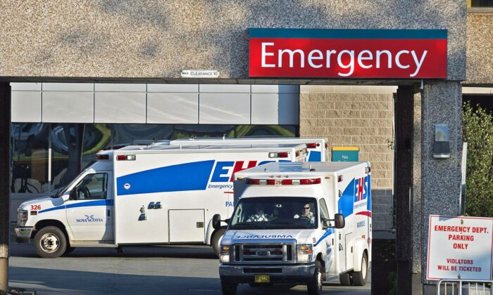 Ambulances outside the Dartmouth General Hospital in Dartmouth, N.S., Canada, in a file photo.  (The Canadian Press/Andrew Vaughan)