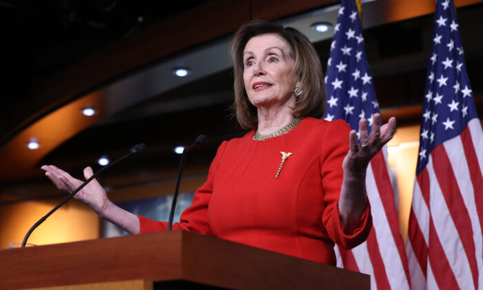 Speaker of the House Nancy Pelosi (D-Calif.) at the U.S. Capitol in Washington on Dec. 19, 2019. (Chip Somodevilla/Getty Images)