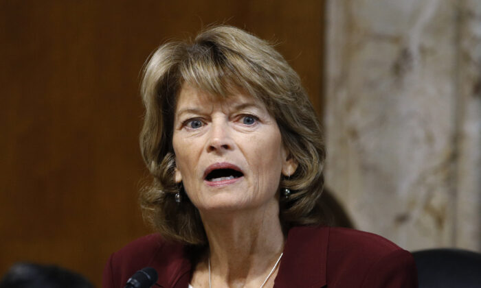 Sen. Lisa Murkowski (R-Alaska) speaks on Capitol Hill in Washington on Dec. 19, 2019. (Patrick Semansky/AP Photo)