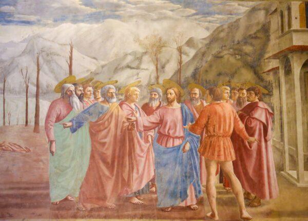 Brancacci chapel Masaccio's Tribute Money