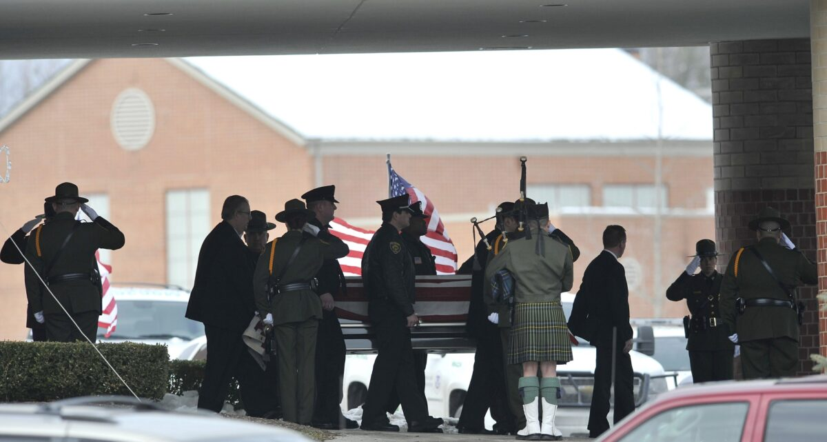 Brian Terry's casket