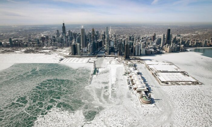 An aerial view of Chicago, Illinois, on Jan. 31, 2019. (Scott Olson/Getty Images)