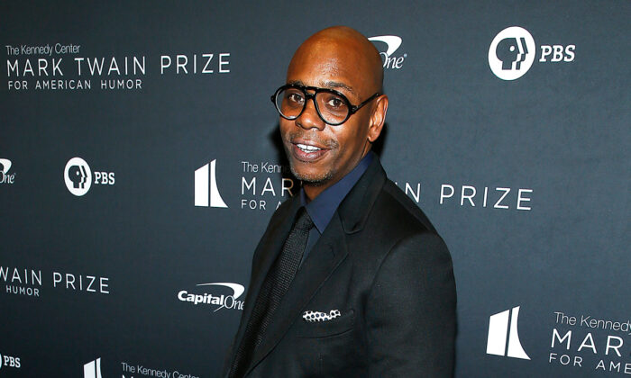 Comedian and honoree Dave Chappelle attends the 22nd Annual Mark Twain Prize for American Humor at The Kennedy Center in Washington on Oct. 27, 2019. (Paul Morigi/Getty Images)