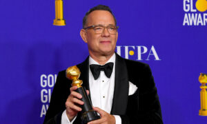 Tom Hanks Fights Tears in Award Speech, Admits Being 'Blessed' With Wife Rita Wilson and 4 Children