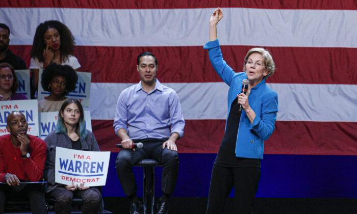 Sen. Elizabeth Warren attends a rally in New York City on Jan. 7, 2020. (Kena Betancur/Getty Images)
