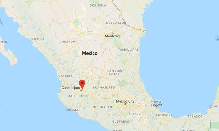 Forensics officials in the western Mexican state of Jalisco said that 26 bags body parts were found in a ravine, and officials are now trying to determine how many victims there are (Google Maps)