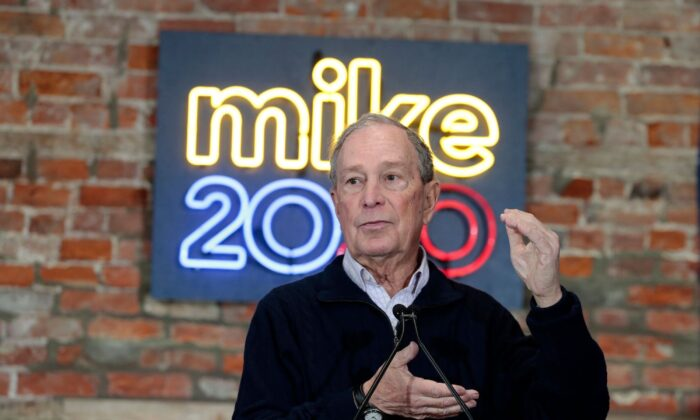 Michael Bloomberg speaks during an event to open a campaign office at Eastern Market in Detroit, Mich., on Dec. 21, 2019. (Jeff Kowalsky/AFP via Getty Images)