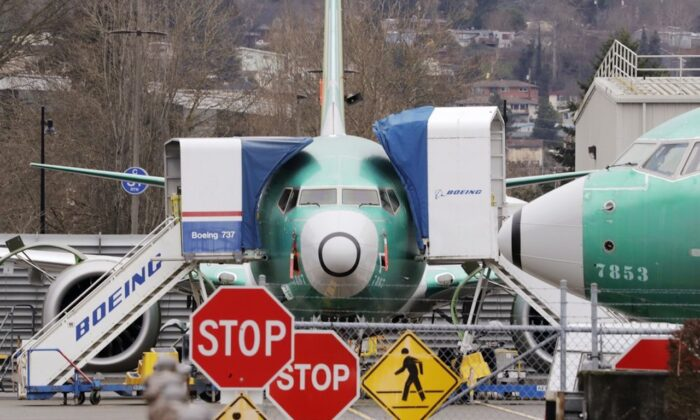 Boeing 737 Max jets sit parked in Renton, Wash. on Dec.16, 2019. (Elaine Thompson/AP-File)