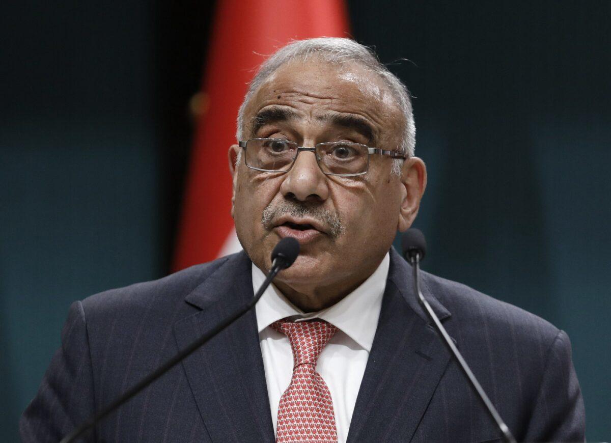 Iraqi Prime Minister Adel Abdul-Mahdi