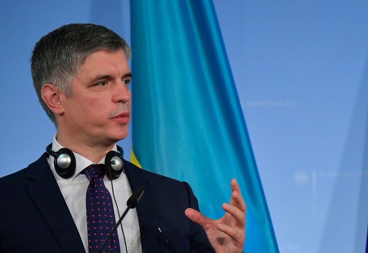 Ukrainian Foreign Minister Vadym Prystaiko