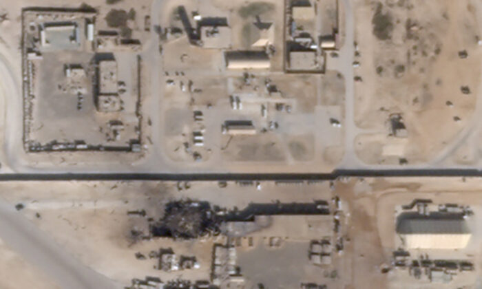 What appears to be new damage at Al Asad air base in Iraq is seen in a satellite picture taken on Jan. 8, 2020. (Planet/Handout via Reuters)