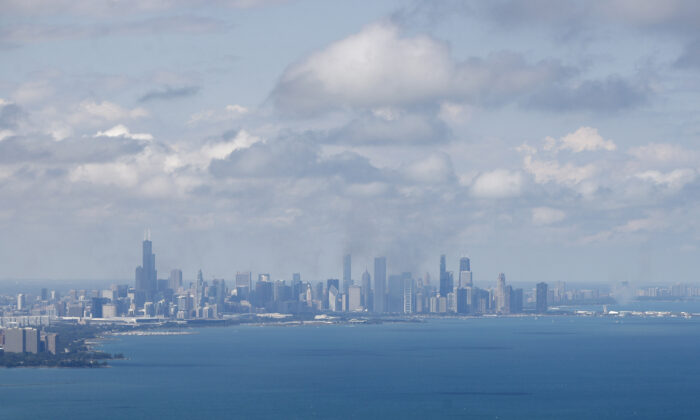 A view of the Chicago skyline in a 2019 photograph. (Kamil Krzaczynski/AFP via Getty Images)