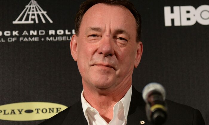 Neil Peart of Rush poses in the press room at the 28th Annual Rock and Roll Hall of Fame Induction Ceremony at Nokia Theatre L.A. Live on April 18, 2013 in Los Angeles, California. (Photo by Jason Merritt/Getty Images)