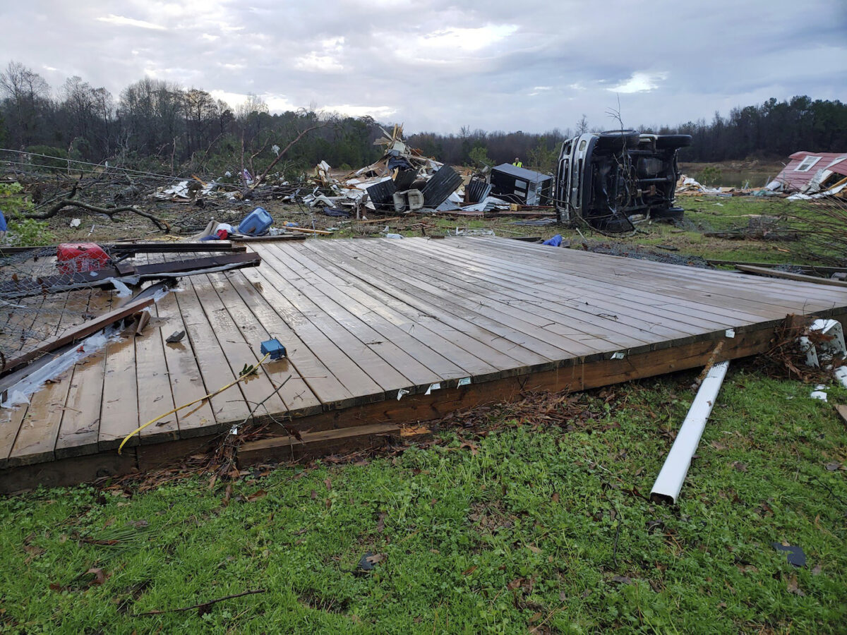Damage from severe weather