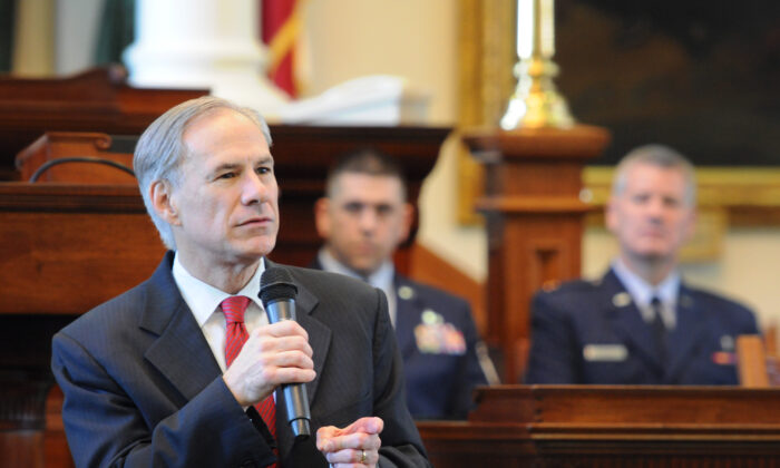 Texas Gov. Greg Abbott in this file photo. (U.S. Air National Guard photo by 2nd Lt. Phil Fountain)