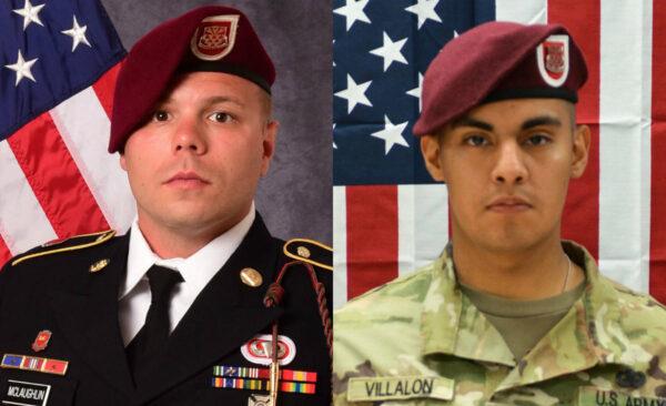 Staff Sgt. Ian P. McLaughlin (L) and Pfc. Miguel A. Villalon