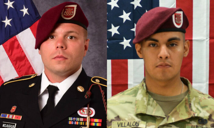 Staff Sgt. Ian P. McLaughlin (L) and Pfc. Miguel A. Villalon. (U.S. Department of Defense)