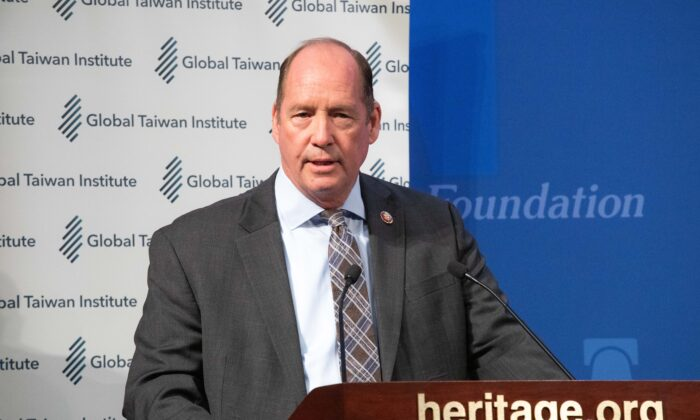 Congressman Ted Yoho speaks at an event assessing the results oof the Taiwan elections at the Heritage Foundation in Washington on Jan. 13, 2020. (Lynn Lin/Epoch Times)