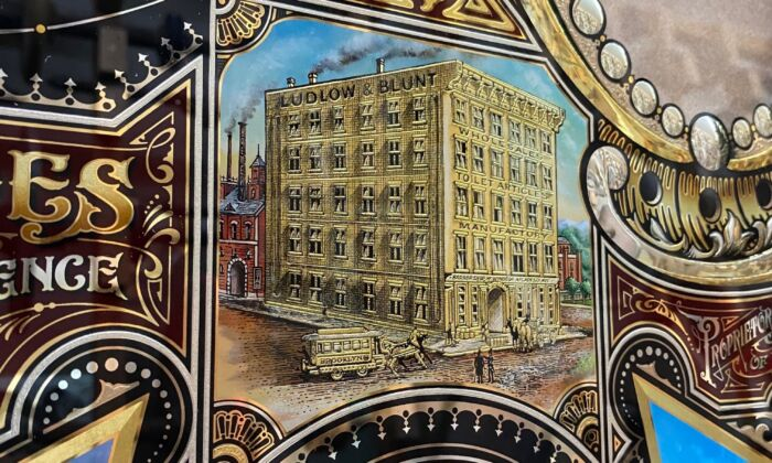 A detail of the glass panel that David Adrian Smith is making for Ludlow Blunt hair salon. The panel will be hand delivered in March 2020. (Courtesy of David A. Smith)